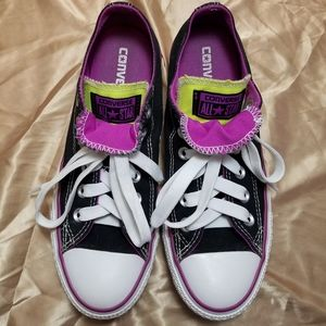 Converse Black & White All Star Lace Up Shoes